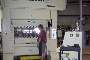 160-metric ton Minster press
